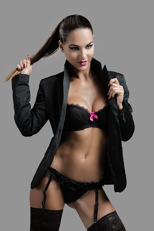 sexy women striping tight business suits