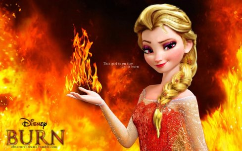 """Fire Elsa: Burn"" by the AMAZING wolfskyla on DeviantArt"